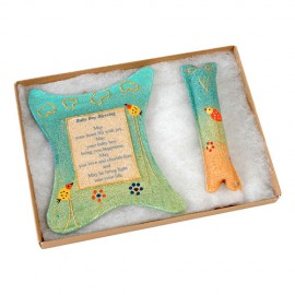 Blessing Sandstone Wall Decoration with Matching Mezuzah