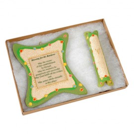 Blessing for the Business Wall Decoration and Mezuzah Set