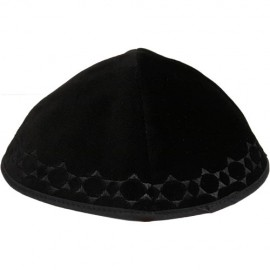 Black Velvet Star of David Kippah