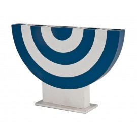 Blue Arch Hanukkah Menorah by Agayof