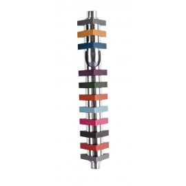Stripes Triangle Mezuzah – Multi-Colored Medium by Agayof