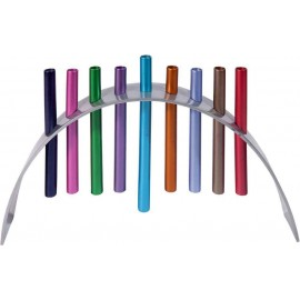 Yair Emanuel Hanukkah Menorah in Multicolors
