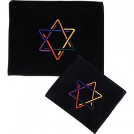 Uniquely Designed Jewish Star Tallis & Tefilin Bag Set
