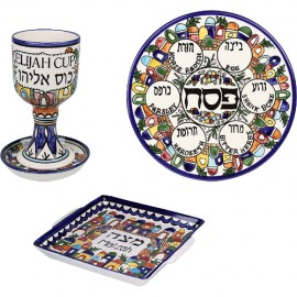Full Armenian Ceramic Seder Set