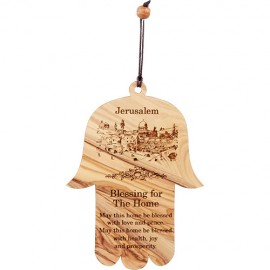 Blessing for the Home Wailing Wall Hamsa