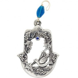 Exquisite Peace Dove and Grapes Hamsa