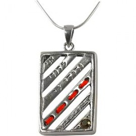 Book Shaped Silver Pendant