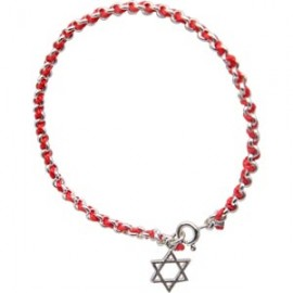 Red String Kabbalah Bracelet with Magen David