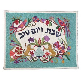 Lions With Background Challah Cover