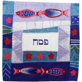 Four Fish Multicolor Matzah Cover