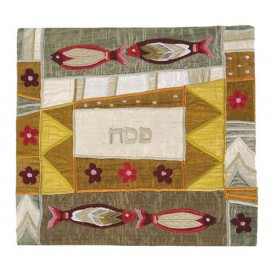 Four Fish Gold Matzah Cover