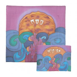 Silk Painted Matzot & Afikoman Covers