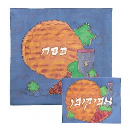 Matzah & Grapes Silk-painted Covers.