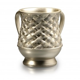 Acrylic Gold plated rope design- wash cup.