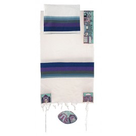 Imanuel Jerusalems In Blue Tallit