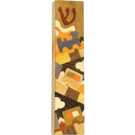 Inlay Wooden Mezuzah Case