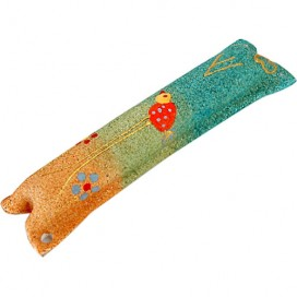 Children's Sandstone Mezuzah with Long Legged Bird