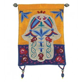 Hamsa Fish Multicolor Wall Hanging