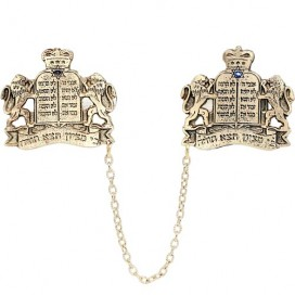 Gold Plated Lions of Judah Torah Tallit Clips