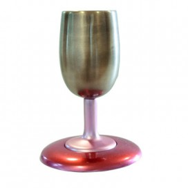 Anodized Kiddush Cup – Red Gold by Yair Emanuel
