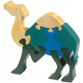 Standing Camel Wooden Puzzle