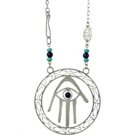 Hamsa-and-Fish Kabbalah Necklace by Shraga Landesman