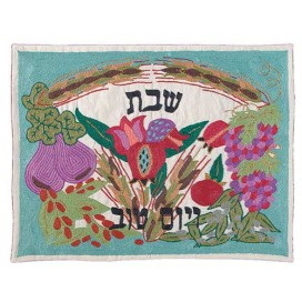 The Seven Species In Color Challah Cover