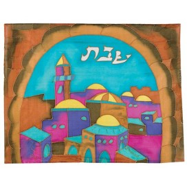 Gate In Color Silk Challah Cover