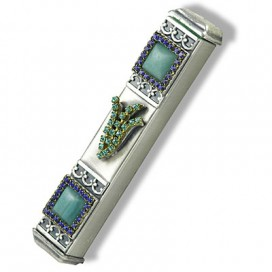 Jeweled Pewter Mezuzah
