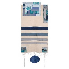 Yair Emanuel Crown Raw Silk Tallit